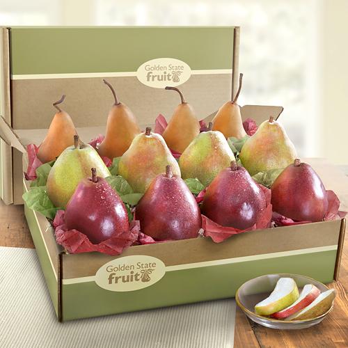 Pear Box - D'Anjou, Buerre Bosc, Crimson Red
