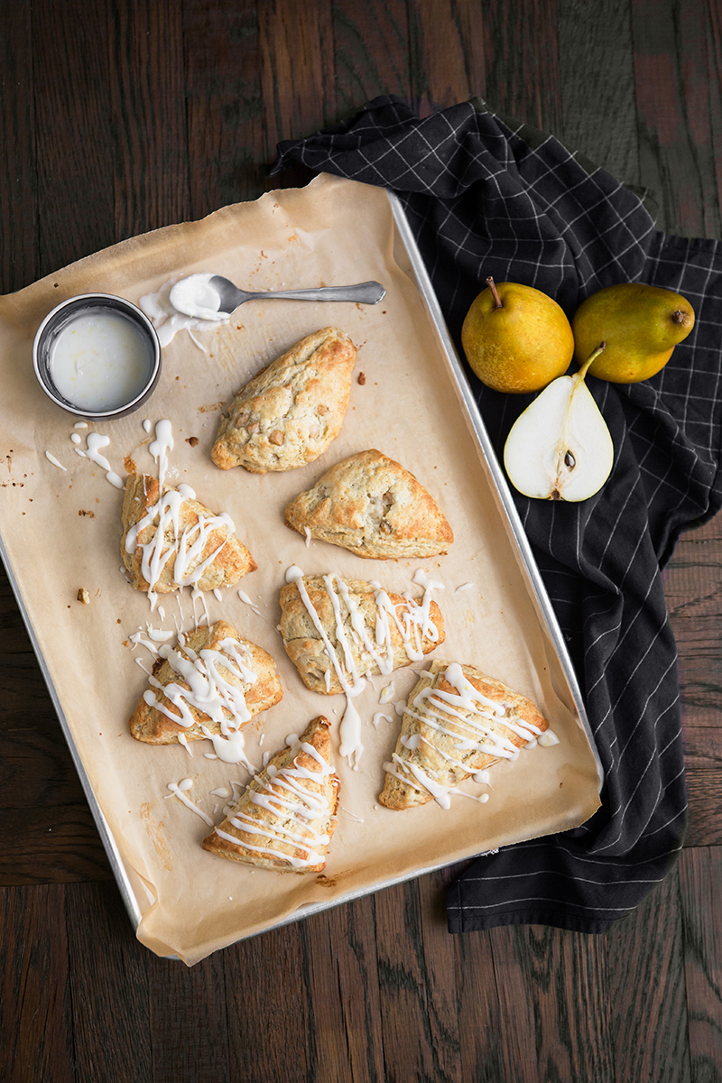 french butter pear scone glaze