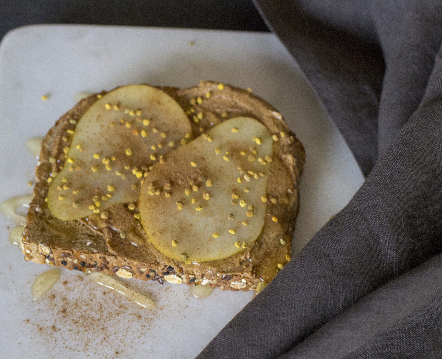 pear almond butter toast recipe